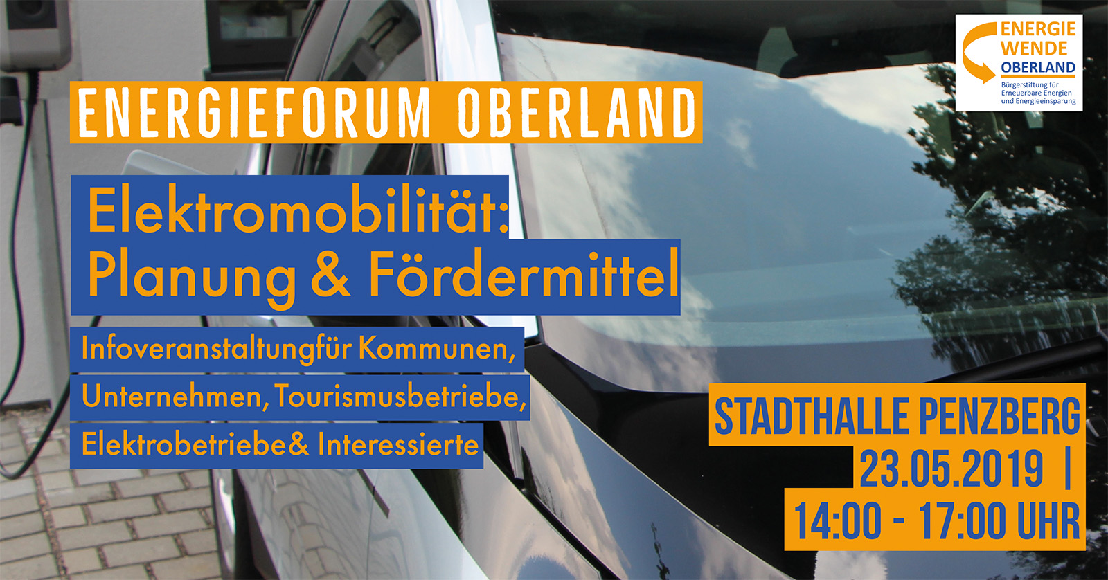 Energieforum Oberland – Elektromobilität. Am 23. Mai 2019.